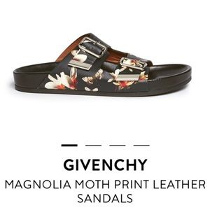 Givenchy Magnolia moth print leather sandal 38
